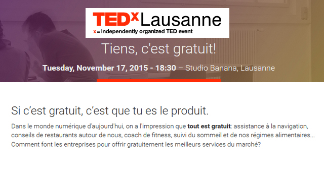 Ted X Salon Lausanne #2
